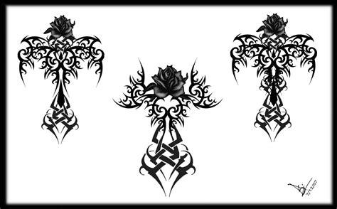 gothic crosses tattoos tribal cross i want it