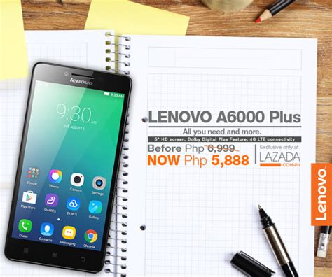 Hp Lenovo A6000 Plus Lazada Lenovo A6000 Plus Goes On Sale For Only Php 5 888 At Lazada New Year Sale
