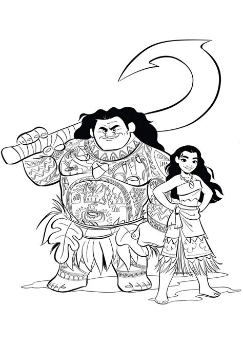coloring pages moana free moana coloring pages to download and print for free