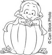 baby pumpkin coloring pages eps vector of coloring page baby toy train illustration