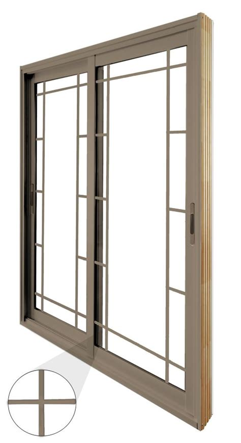 60 Patio Door Stanley Doors 60 Inch X 80 Inch Sandstone Sliding Patio Door Prairie Style Grill
