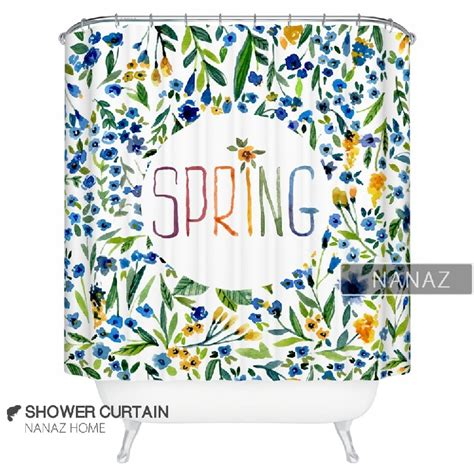 spring shower curtain spring shower curtain