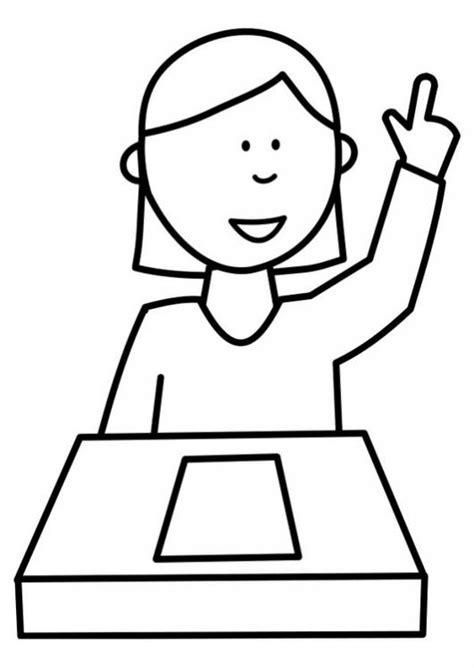 imagenes graciosas levantando la mano dibujo de estudiante levantando la mano en clase para