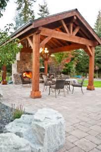 Covered patio pavilion design amp construction in spokane