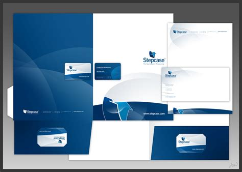 mapping layout perusahaan stepcase logo stationery by arpad jpg
