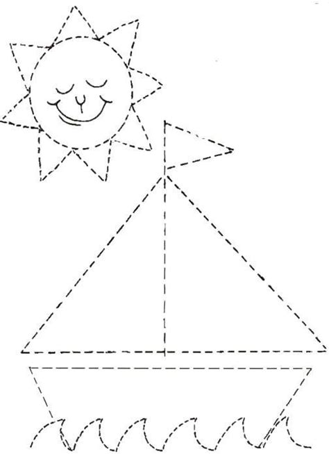 triangle pattern to trace 25 best ideas about tracing worksheets on pinterest