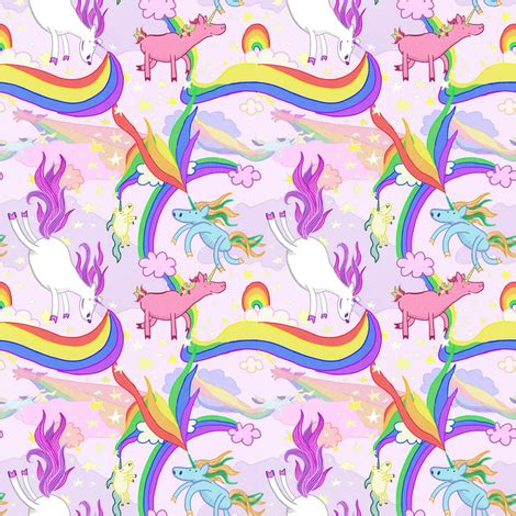unicorn pattern background unicorn repeating pattern fabric by lauragallantart on