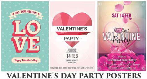 valentines posters happy valentines day poster with petals free