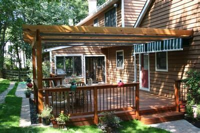 pull out awnings for decks attached pergola w retractable canopies they used 3