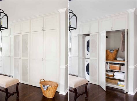 doors to hide washer and dryer how to optimize stacked washers and dryers for a combo