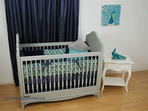 peacock crib bedding peacock theme nursery with navy and aqua crib bedding
