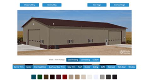 Shed Colour Selector by Post Frame Steel Buildings Ag Equestrian Commercial