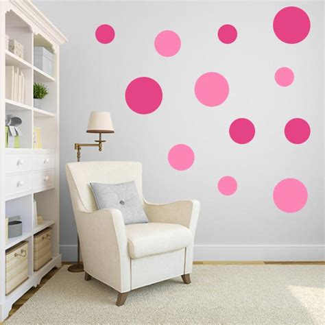 pink wall stickers pink polka dot wall decals pink polka dot wall stickers
