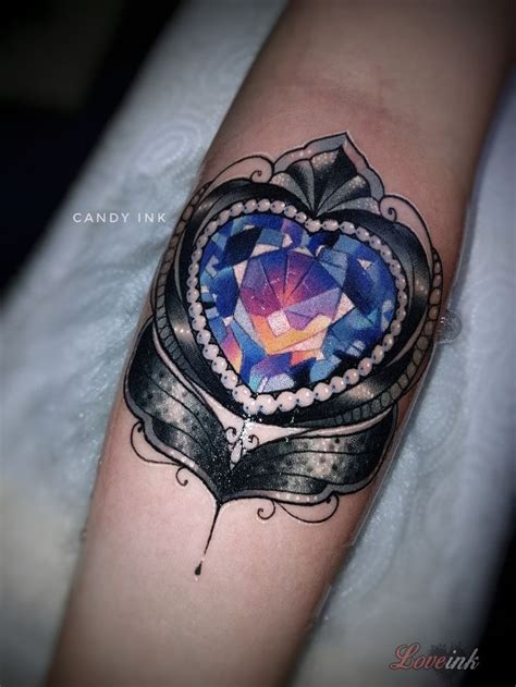 diamond heart tattoo best 25 tattoos ideas on