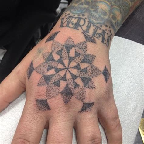 dotwork hand tattoo hand dotwork tattoo by alans tattoo studio