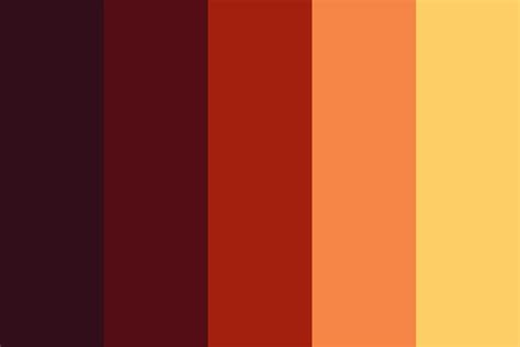 fall color pallette fall cfire color palette