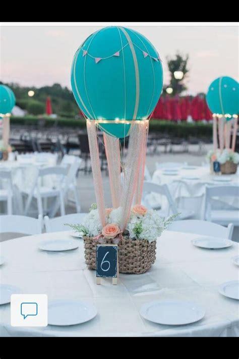 air balloon floral centerpiece