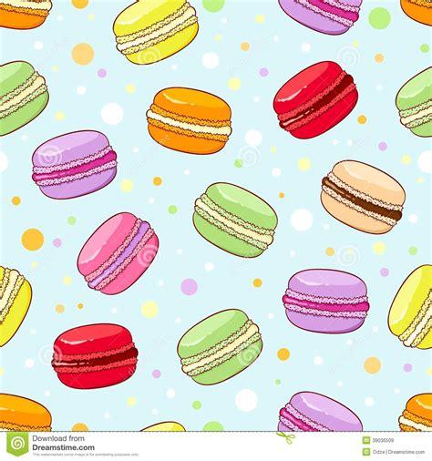 cute macaron pattern macaroon pattern stock vector image 39036509