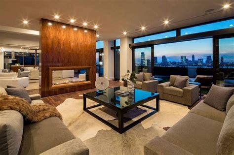 million dollar  york penthouse living room pent