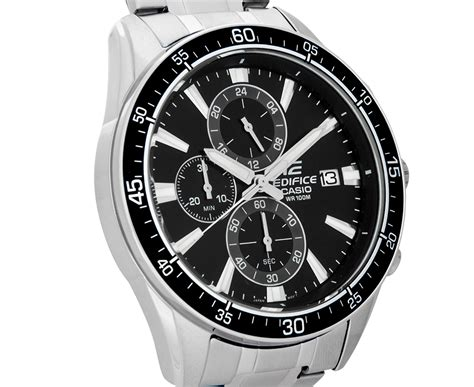 Casio Edifice Efr 303 Black Incld Box D 45mm For casio edifice s 54mm efr546d 1a stainless steel chronograph black si ebay