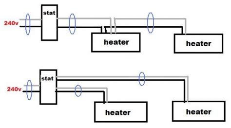 220 volt baseboard heater thermostat wiring diagram
