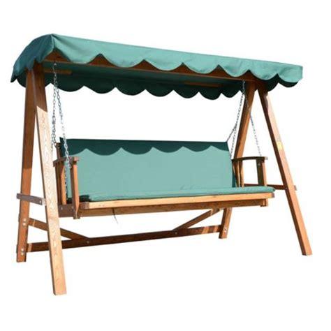 homcom balancelle balancoire banc fauteuil de jardin en bois convertible en lit 4 places charge