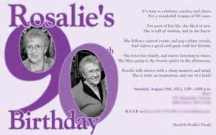 90 Birthday Invitation Templates by 90th Birthday Invitations Gangcraft Net