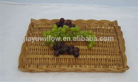 Handmade Tray Decoration - handmade oval fruit decoration tray bread tray wicker