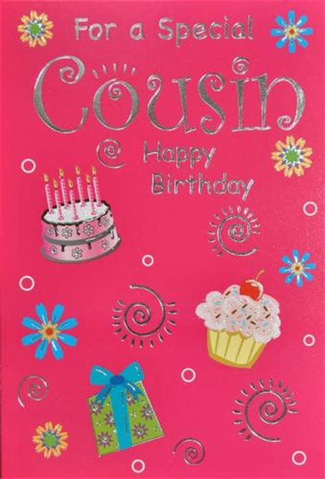 Birthday Cards For Cousin Cousin Birthday Card