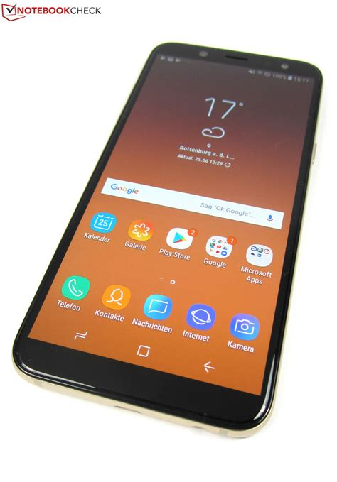 samsung galaxy a6 2018 smartphone review notebookcheck net reviews