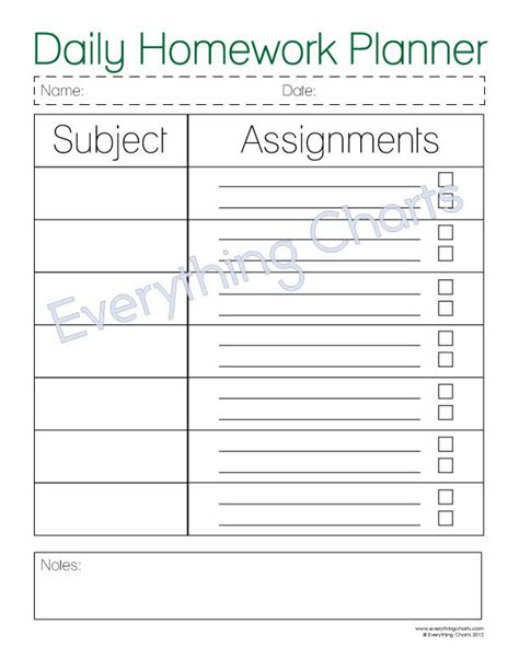 printable weekly homework planner the daily homework planner is a great way for kids to stay