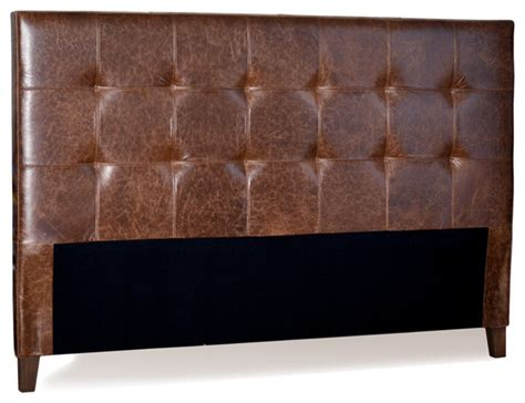 Leather King Headboard For Now Designs King Size Mink Brown Genuine Leather Tufted Headboard View In Your Room Houzz