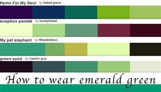 what color goes well with green how to wear green colour of the year emerald green