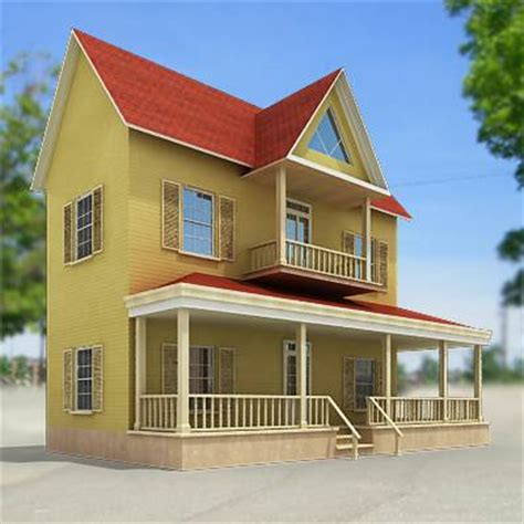 small house model 3d model suburb small house 29 95 buy download