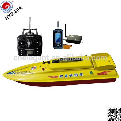 rc fishing boat gps fishing rc boat hyz 80a sonar wireless fish finder bait