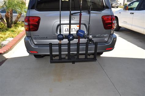 Hitch Mount Rod Rack by Hitch Mounted 6 Rod Holder Custom Made Bloodydecks