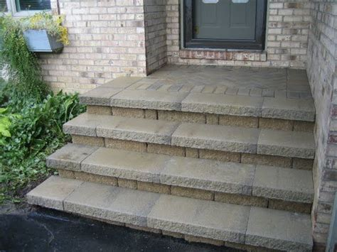 Front Patio Pavers Paver Stairs How To Build Brick Pavers Arbor Canton