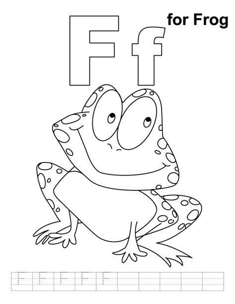 frog coloring worksheet free coloring pages of f is for frog