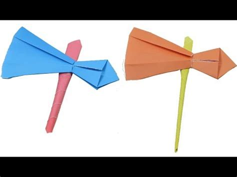 How To Make A Axe Out Of Paper - how to make a paper tomahawk battle axe best origami