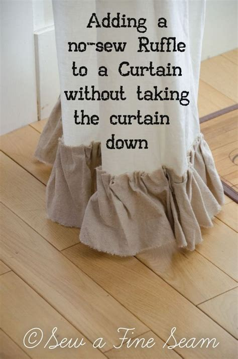 how to sew ruffles on curtains ruffles curtains and no sew on pinterest