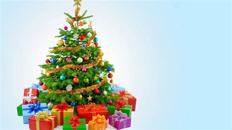 wallpaper christmas tree decoration presents gifts 5k