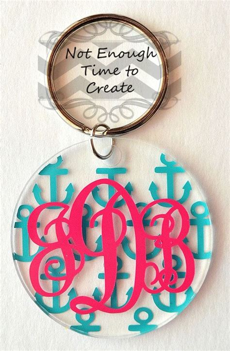 Find On Etsy Acrylic Monogram Keychains By Notenoughtime2create On Etsy Find Us On Fb Etsy And