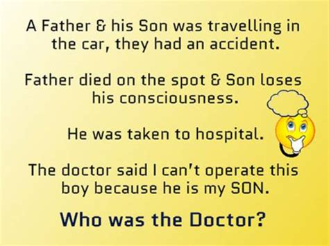 things to do in hospital when bored logic questions a father and his son was travelling in