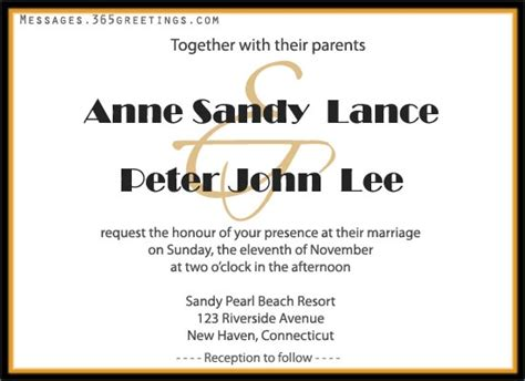 wedding invite sms message invitations archives 365greetings