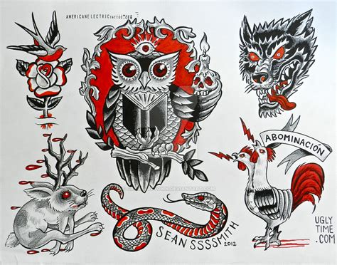 tattoo flash drawings redand black tattoo flash 2 by creaturetown on deviantart