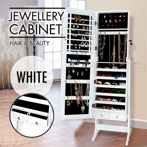 mirror and jewelry cabinet mirror jewellery cabinet makeup storage jewelry organiser