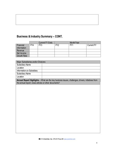 account profile template strategic account plan template