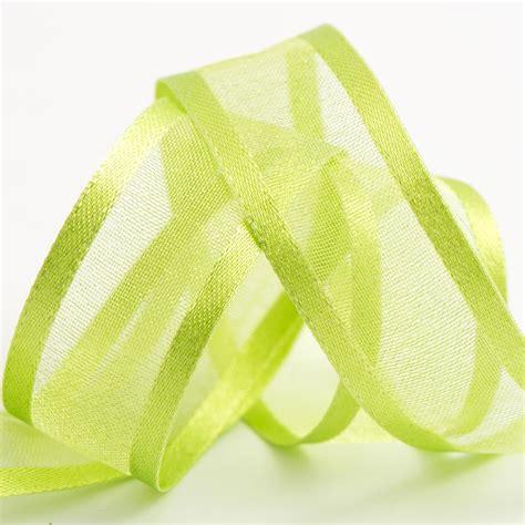 light green satin edge organza ribbon at favour this