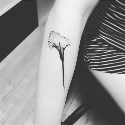 lily tattoos small x calla on the right forearm small