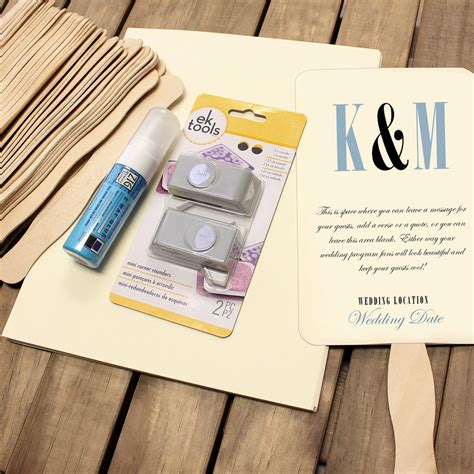 wedding program fans kit wedding program fan kit cool color choices at craftysticks